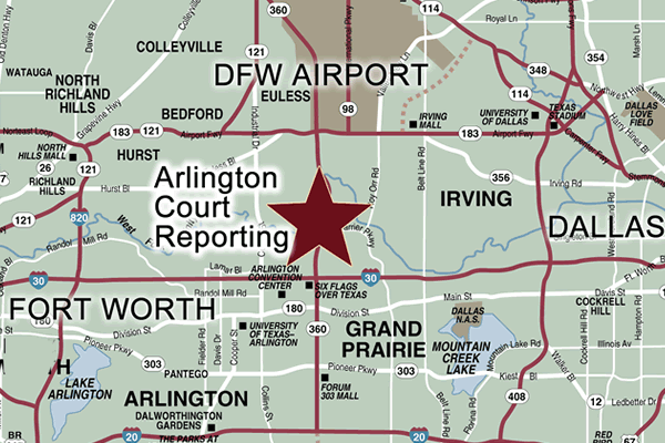 Court Reporter near DFW airport